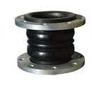 Rubber joint with double ball flange connection